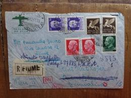 REGNO - Raccomandata Aerea Spedita Da Fiume In Germania Con Verifica Censura + Spese Postali - 1900-44 Vittorio Emanuele III