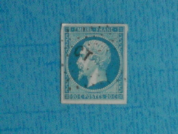 FRANCE - Beau Timbre, Belles  Marges Du N° 14 Oblitéré - 1853-1860 Napoléon III