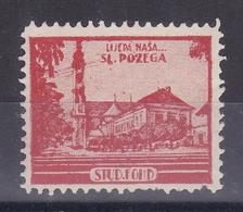 Croatia Yugoslavia 1930's Slavonska Pozega Church Student Charity Tax Surchage Label Cinderella Stamp - Croazia
