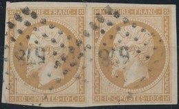 FRANCE - 1860, Mi 12, Yt 13, 10c Napoleon III, Oblitére, Signed - 1853-1860 Napoleon III