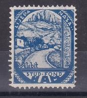 Croatia Yugoslavia 1930's Velebit Student Charity Tax Surchage Label Cinderella Stamp - Croazia