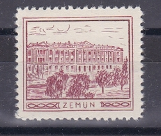 Serbia Yugoslavia 1930's Zemun Croatia Student Charity Tax Surchage Label Cinderella Stamp - Croatia