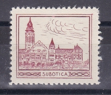 Serbia Yugoslavia 1930's Subotica Church Cathedral Croatia Student Charity Tax Surchage Label Cinderella Stamp - Croatia