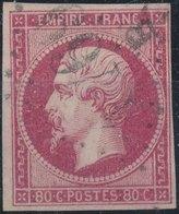 FRANCE - 1854, Mi 16, Yt 17, 80c Napoleon III, Oblitére, Signed - 1853-1860 Napoléon III