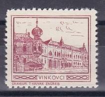 Croatia Yugoslavia 1930's Vinkovci Student Charity Tax Surchage Label Cinderella Stamp - Croatia
