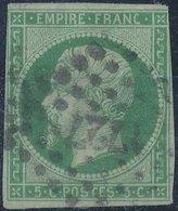 FRANCE - 1860, Mi 11, Yt 12, 5c Napoleon III, Oblitére - 1853-1860 Napoleon III
