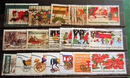 USA Etats-unis - Christmas & Greetings Small Batch Of 18 Stamps Used - Sammlungen