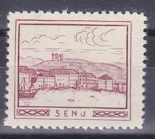 Croatia Yugoslavia 1930's Senj Boat Student Charity Tax Surchage Label Cinderella Stamp - Croatia
