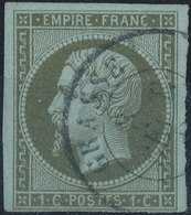 FRANCE - 1860, Mi 10, Yt 11, 1c Napoleon III, Oblitére - 1853-1860 Napoléon III
