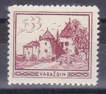 Croatia Yugoslavia 1930's Varazdin Student Charity Tax Surchage Label Cinderella Stamp - Croatia