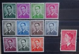 BELGIE  1958   Nr. 1066 - 1075     Postfris **   CW 365,00 - 1953-1972 Bril