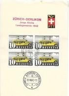 "123 - 30 - Feuillet Avec Oblit Spéciale ""Zürich-Oerlikon Junge Kirche Landsgemeinde 1942"" - Marcofilie"