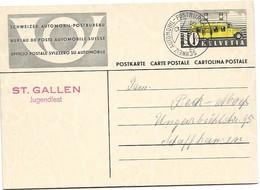 """123 - 38 - Entier Avec Oblit Spéciale """"St Gallen Jugendfest"""" 1938 - Marcophilie"""