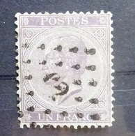 BELGIE   1865   Nr. 21 B  (2)   Tand. 14     Gestempeld    CW 125,00 - 1865-1866 Profile Left