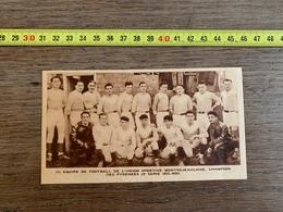 1934 M EQUIPE FOOTBALL UNION SPORTIVE MONTREJEAULAISE MONTREJEAU - Collezioni