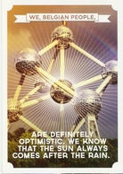 CP Pub. Belgique 2020 - Atomium - We Belgian People Are Definitely Optimistic - Optimisme, Bonheur - Bauwerke, Gebäude