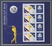 = Bloc Ryder Cup Neuf 4 Timbres à 2.60€ Le Golf National La Légende Du Golf En France Timbres 5245A - Blocks & Kleinbögen