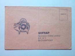 ENVELOPPE HUILE LESIEUR  PUBLICITÉ 94 CHAMPIGNY - BON POUR RECEVOIR UN BON DE 5F.00 - 1971 SOFRAP - Advertising