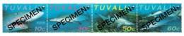 Tuvalu 2000 Sand Tiger Shark Set Of 4 SPECIMEN MNH - See Notes - Tuvalu