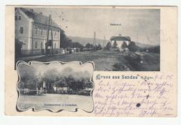 Sandau B. Eger Dolní Žandov Restauration J. Leiacker Old Postcard Travelled 1906 Wien-Eger Railway Pmk To Bonn B190210 - Tchéquie