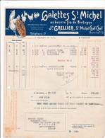 44-J.Grellier...Galettes St-Michel...Saint-Michel-Chef-Chef...(Loire-Atlantique)...1934 - Alimentaire