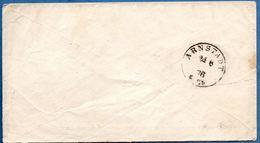 Arnstadt 24 6 76 Einkreis Ohne Sterne Empfangstempel, Brief Von Hildesheim In Hannover (Kastenstempel) Germany 1812.2850 - Allemagne