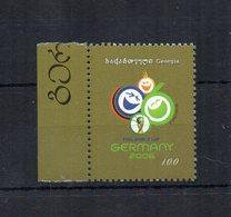 Georgia - 2005 - Francobollo Tematica Calcio - Coppa Del Mondo Germania 06 - Nuovo Con Bordo Di Foglio  ** - (FDC19069) - Georgia