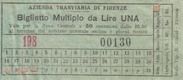 ** AZIENDA TRANVIARIA DI FIRENZE.-** - Tramways