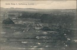 Ansichtskarte Großräschen Grube Marga - Gel. Stempel Marga 1912 - Senftenberg