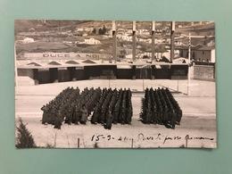 L'AQUILA 15-3-1941  CARTOLINA FOTOGRAFICA  PROVE DI PASSO ROMANO   FASCISMO  DUCE - L'Aquila