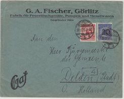 DR - 20+10 Pfg. Korbdeckel, Brief N. HOLLAND, Görlitz 20.12.23 - Delden - Deutschland