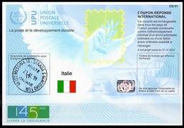 ITALIE / ITALIA / ITALY Is45 20191016 AB International Reply Coupon Reponse Antwortschein IRC IASHologram O MESSINA - Interi Postali