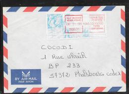 1712002 - LETTRE DE NOUMEA MTRAVEL (NOUVELLE CALEDONIE) DU 06/11/95 POUR PHALSBOURG - Marcophilie (Lettres)