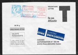 1712007 - LETTRE DE NOUMEA RUE SALEE (NOUVELLE CALEDONIE) DU 10/04/97 POUR PHALSBOURG - 1961-....