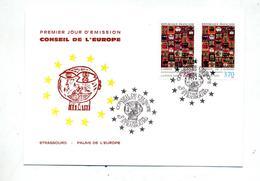Carte Maximum 1999 Strasbourg Conseil Europe - Maximumkarten