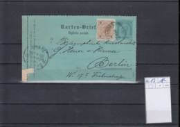 Österreich Ganzsache Michel Kat.Nr. Gest K17 - Interi Postali