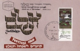 ISRAEL, 1968, Maxi-Card(s), New Year - Jerusalem, SG395-399, F5128 - Tarjetas – Máxima