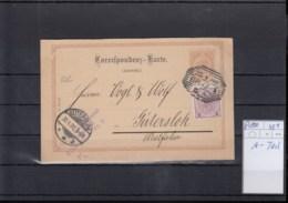 Österreich Ganzsache Michel Kat.Nr. Gest P100 A-Teil - Interi Postali
