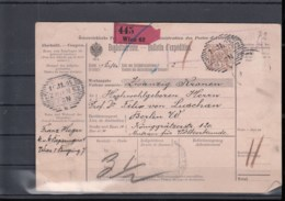 Österreich Ganzsache Michel Kat.Nr. Gest Post - Begleitadresse (5) - Enteros Postales