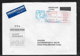 1712010 - LETTRE DE DUMBEA (NOUVELLE CALEDONIE) DU 11/04/97 POUR PHALSBOURG - 1961-....