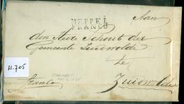 UIT 1825 POSTHISTORIE * HANDGESCHREVEN BRIEF Uit STAPHORST Aan De SCHOUT Te ZUIDWOLDE + Antwoord Watersnood (11.705) - ...-1852 Vorläufer