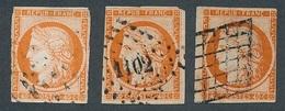 """DH-36: FRANCE: Lot """" CERES"""" Avec N°5 Obl (3 Défectueux) - 1849-1850 Ceres"""