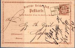 Bieber Kreis Gelnhausen 23 7 73 Rechteckstempel Auf Postkarte P1, Germany 1812.2851 - Duitsland