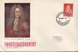 Denmark Stamp On FDC - Astronomy