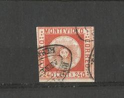 Timbre Uruguay - Sperati Forgery Montevideo 240 Centesimos Rare - Uruguay