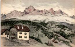 Zischglalpe Mit Rosengarten U. Cimone Della Pala (1108/1544) - Italie