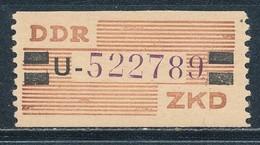 DDR Dienstmarken B 29 Kennbuchstabe U Nachdruck ** Geprüft Weigelt Mi. 18,- - DDR