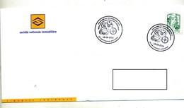 Lettre Cachet Hettange Patrimoine Horloge - Poststempel (Briefe)