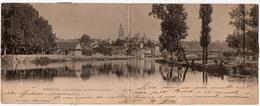Périgueux : Carte Panoramique Double Format : La Cathédrale, Vue Prise De Sainte-Claire (Edit. O. Domège, ND Phot N°1522 - Périgueux
