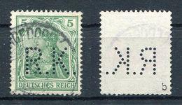 """Deutsches Reich Michel-Nr. 70b Perfin """"R.K."""" Gestempelt - Geprüft - Oblitérés"""